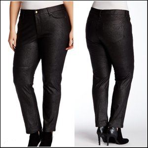NYDJ Printed Glaze Faux Leather Skinny Pants